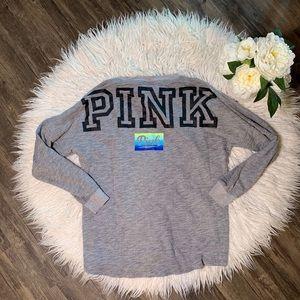 • Victoria Secret Pink Gray Sweatshirt •